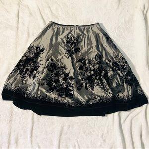 Metaphor Silver w/ Black Velvet Floral Skirt
